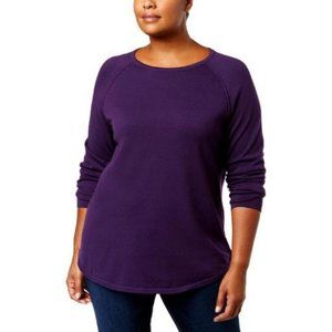 Karen Scott Size 2X Purple Dynasty Sweater